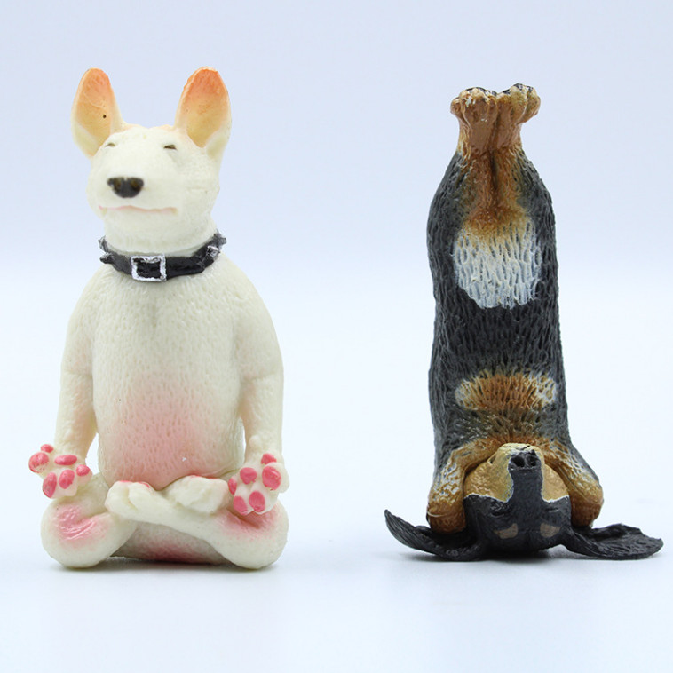 Bộ 06 Mô Hình Chú Chó Dễ Thương Tập Yoga