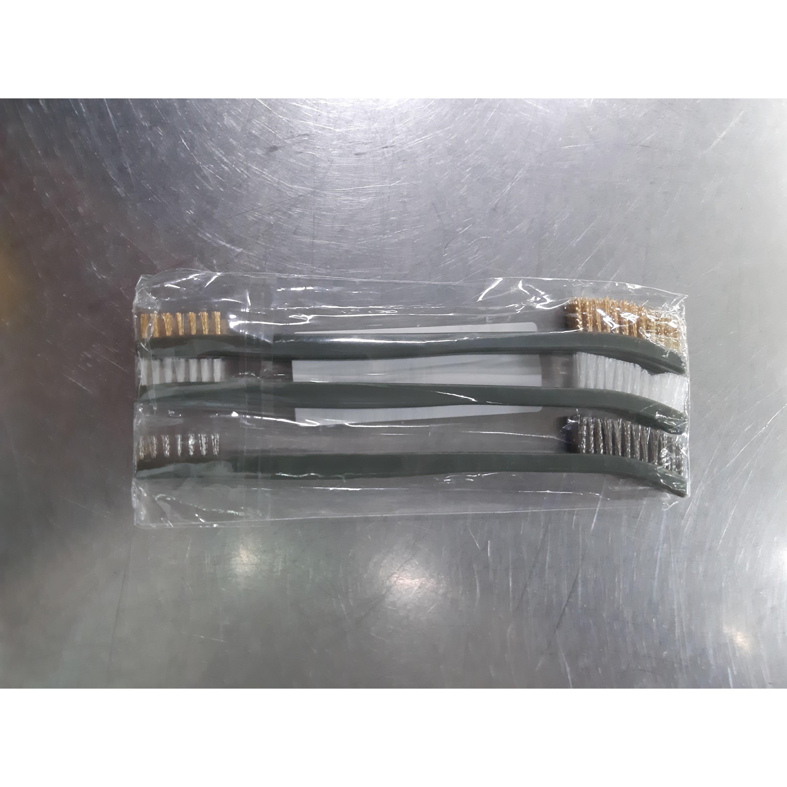 Bộ 3 bàn chải chà gỉ sét mini làm sạch Sơn,Rỉ Sét,Bụi Bẩn ( 17cm)
