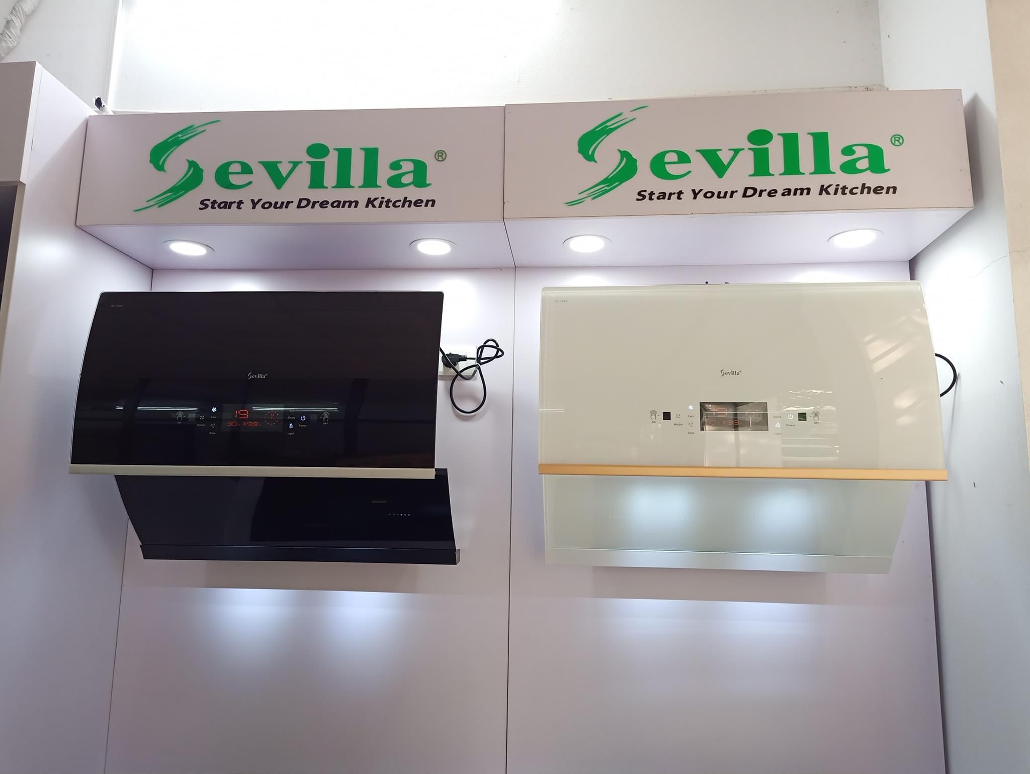 Máy hút mùi Sevilla SV-70K4 (Màu trắng) - Hàng Chính Hãng