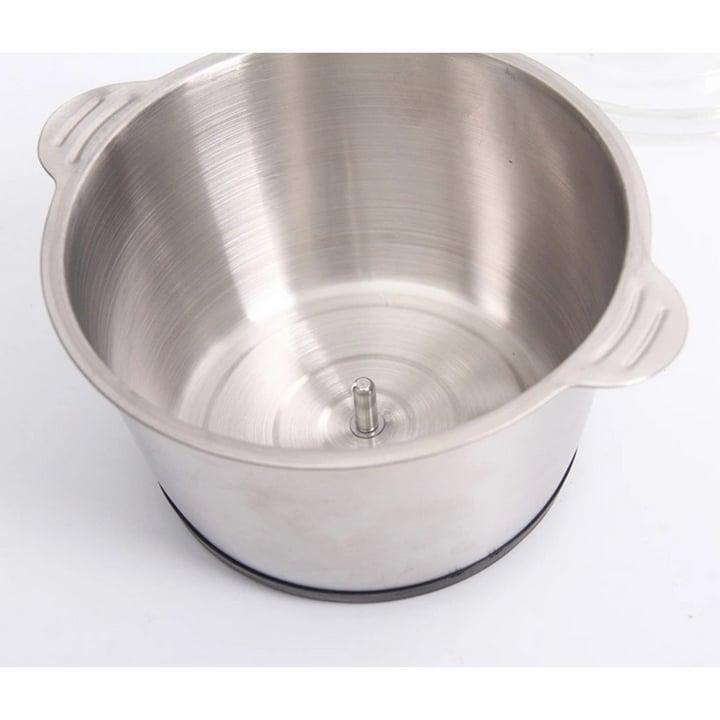Máy xay thịt cối inox dung tích 2L , máy xay đa năng 4 lưỡi có thể dùng xay hành tỏi, xay tiêu hoặc các loại thực phẩm khác