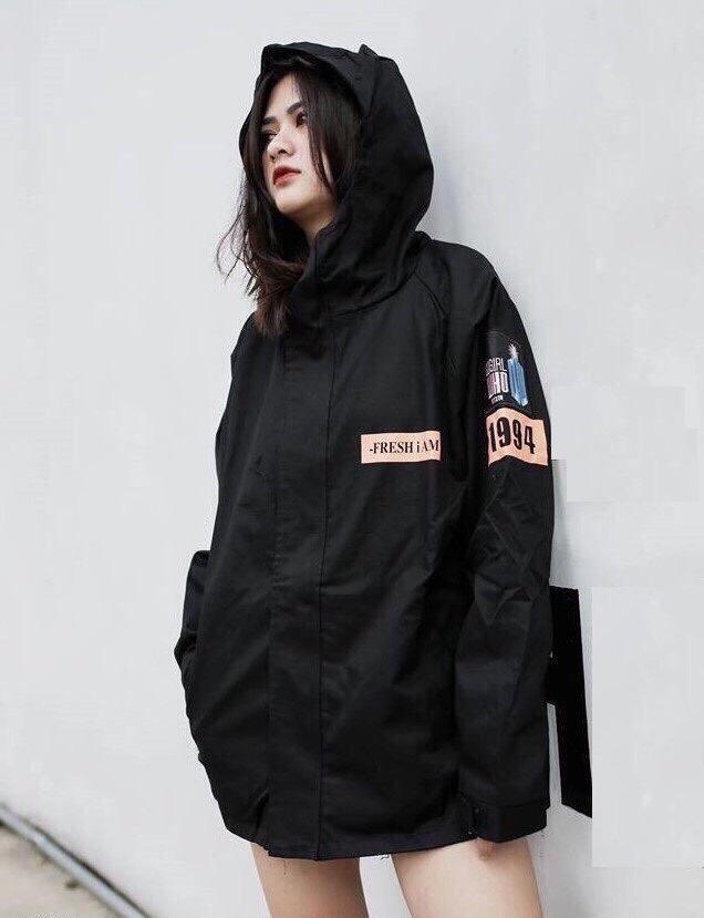 Áo khoác dù nữ phong cách 1994