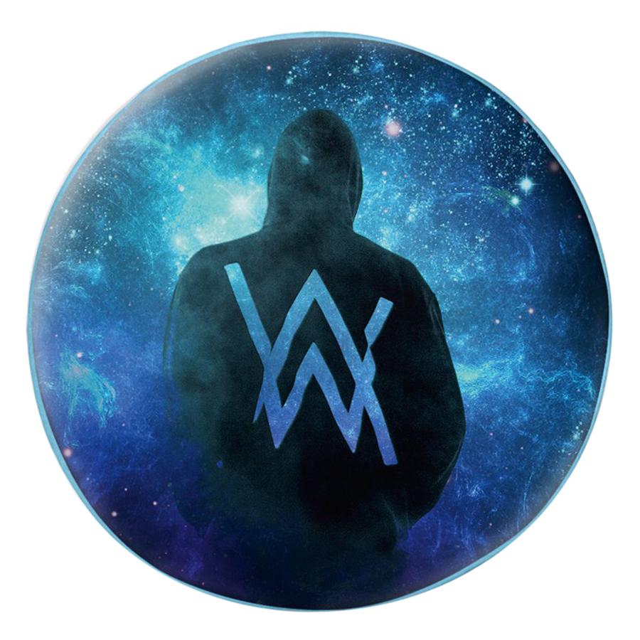 Gối Ôm Tròn In Hình Alan Walker Nền Galaxy - GOUP028