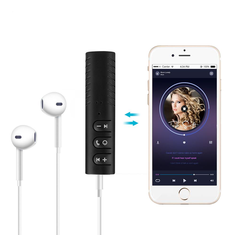 Thiết bị biến loa thường, tai nghe thường thành bluetooth - Car Bluetooth Music Receiver + Tặng kèm tai nghe EarPhone