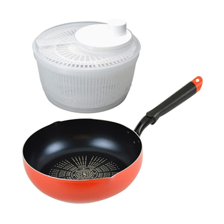 Combo Rổ quay rau Rotary  Chảo chống dính mặt đá kim cương Pearl dùng được bếp từ - Nội địa Nhật Bản - 1 combo - 23337522 , 4342522760618 , 62_13724337 , 990000 , Combo-Ro-quay-rau-Rotary-Chao-chong-dinh-mat-da-kim-cuong-Pearl-dung-duoc-bep-tu-Noi-dia-Nhat-Ban-1-combo-62_13724337 , tiki.vn , Combo Rổ quay rau Rotary  Chảo chống dính mặt đá kim cương Pearl dùng