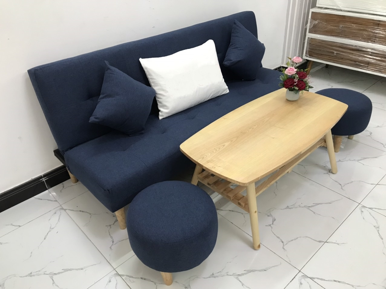 Bộ ghế sofa bed 1m7x90 sofa giường phòng khách linco09