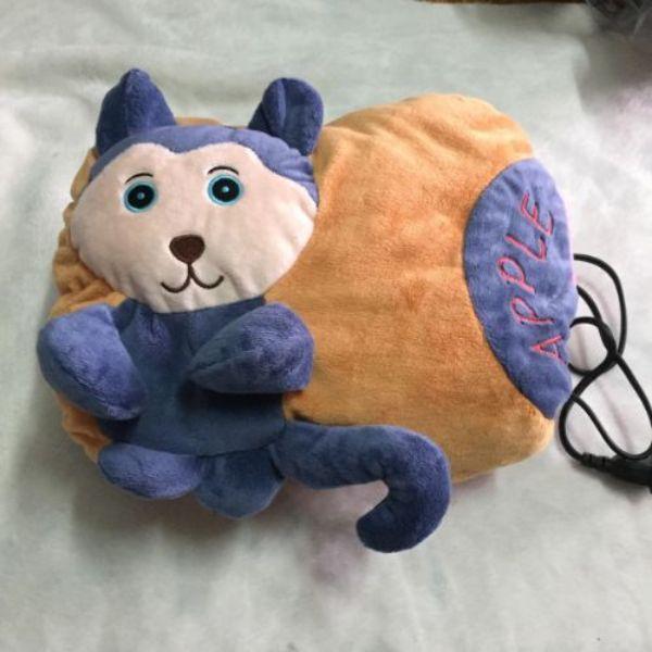 Túi Sưởi Ấm Lưng Hình Chú Mèo Đa Năng - Dùng Điện - Màu Xanh - Mẫu TSL10