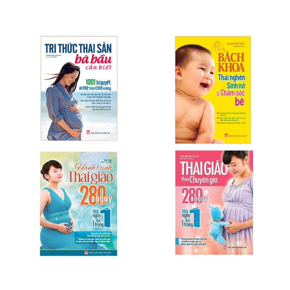 Combo Sách Tri Thức Thai Sản Bà Bầu Cần Biết, Thai Giáo Theo Chuyên Gia, Hành Trình Thai Giáo, Bách Khoa Thai Nghén Sinh Nở Và Chăm Sóc Bé