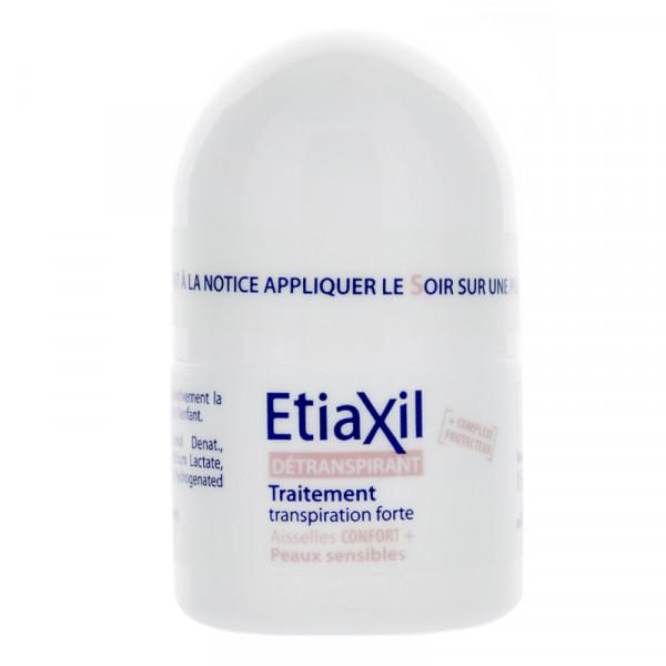 Lăn khử mùi Etiaxil Détranspirant Traitement Confort+ Aisselles Peaux Sensibles 15ml (Dành cho da siêu nhạy cảm)
