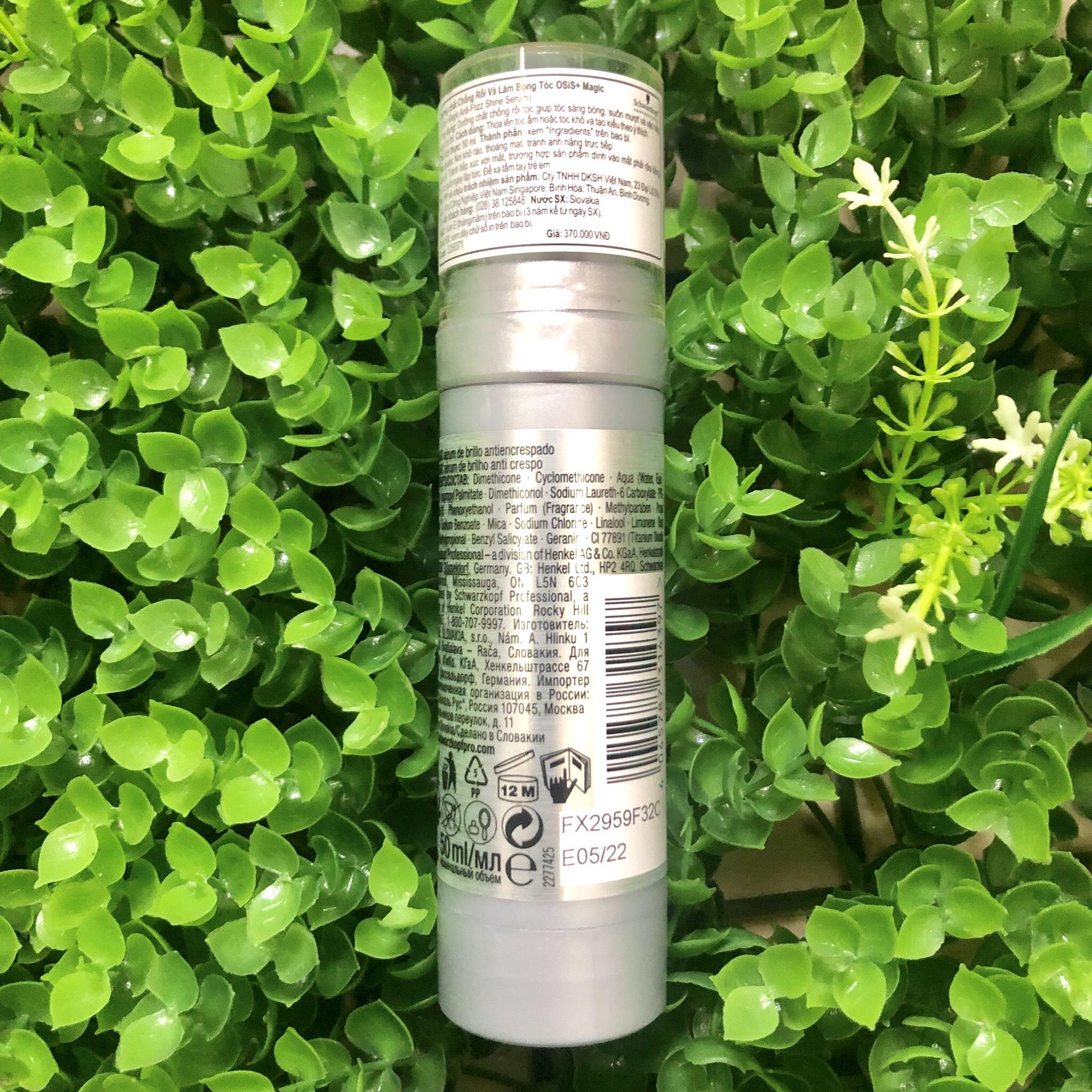 Tinh chất chống rối và làm bóng tóc Schwarzkopf OSiS+ Magic Anti-Frizz Shine Serum Gemany 50ml