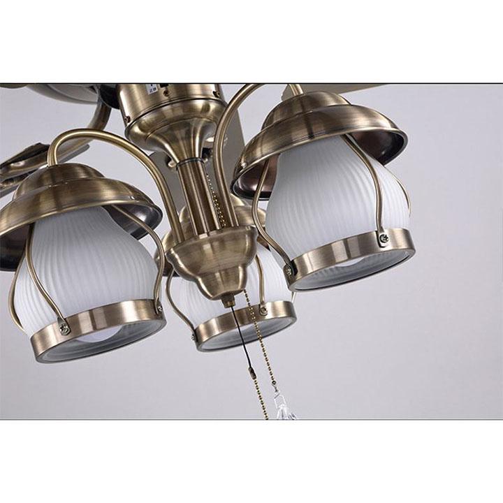 Quạt đèn trang trí phong cách cổ điển - kèm bóng Led chuyên dụng