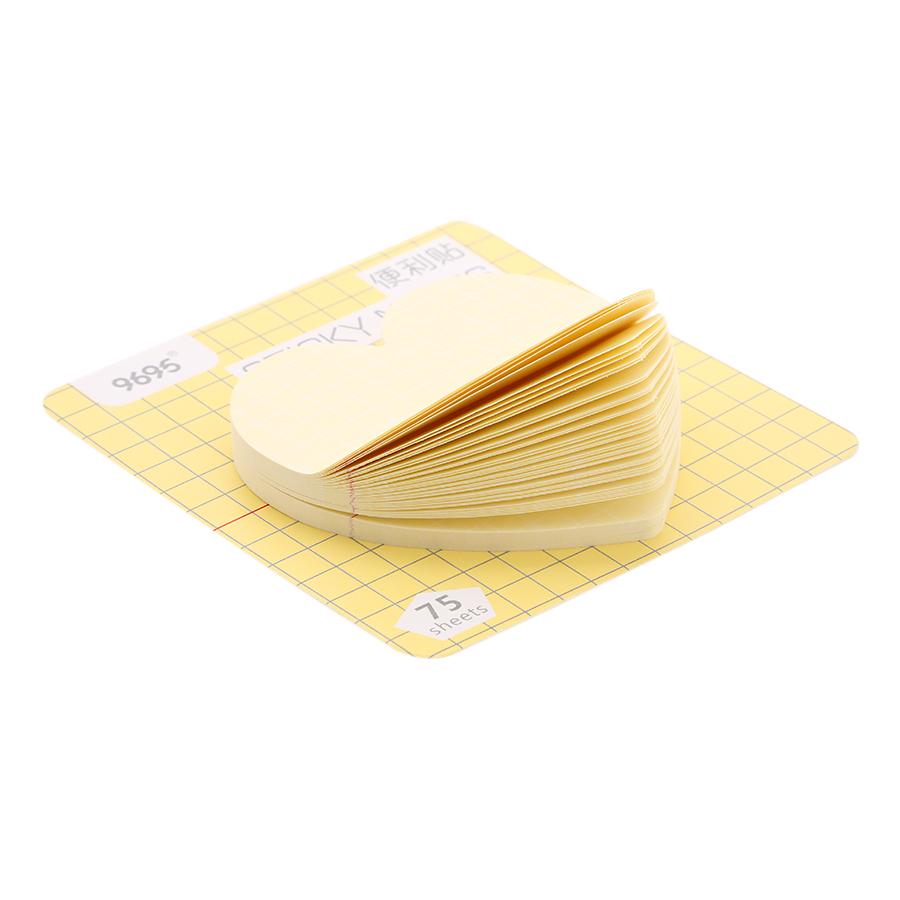 Lốc 4 Xấp Giấy Note No.0018 - Hình Tim