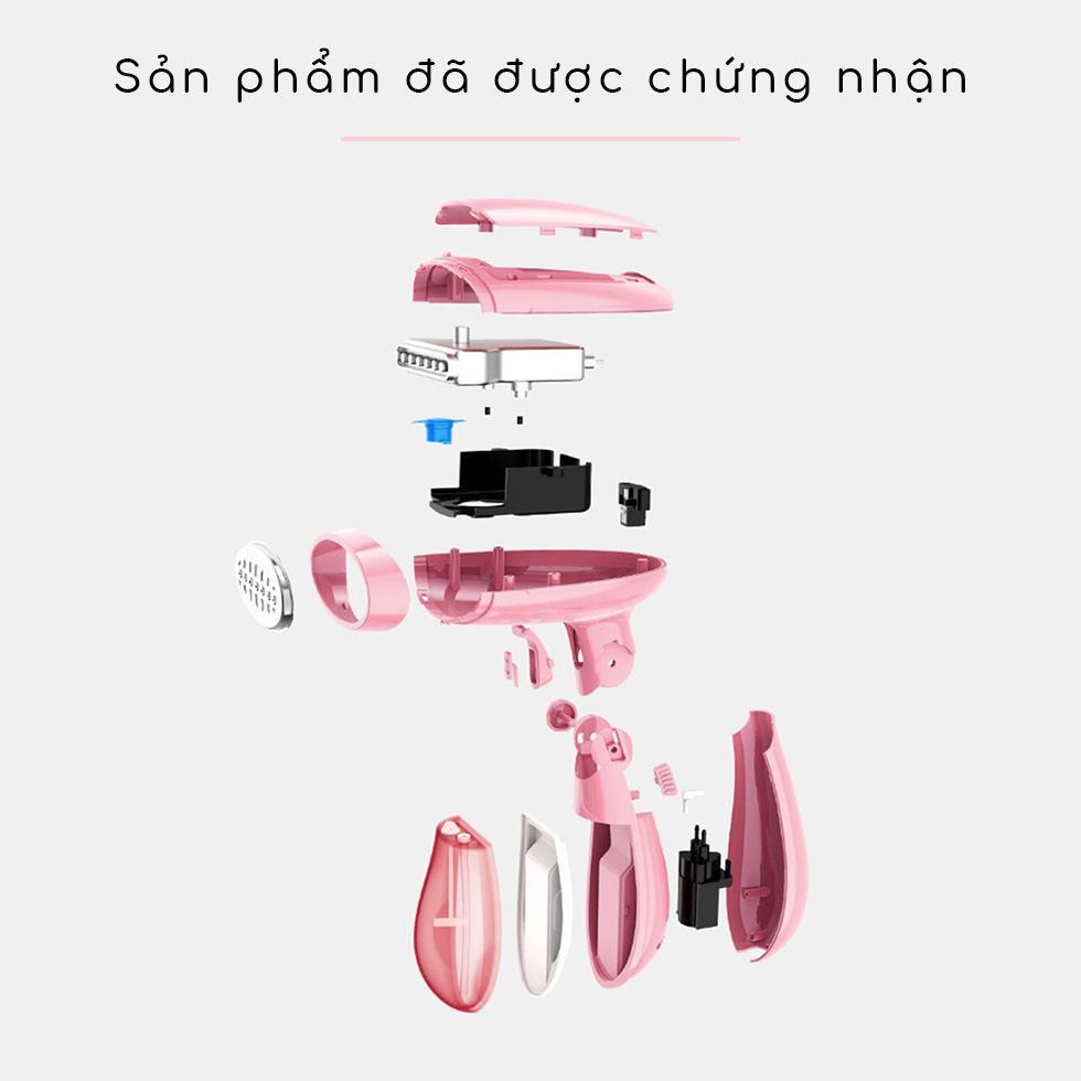 Bàn Ủi Hơi Nước Cầm Tay Du Lịch Công Tác Màu Hồng KW0001