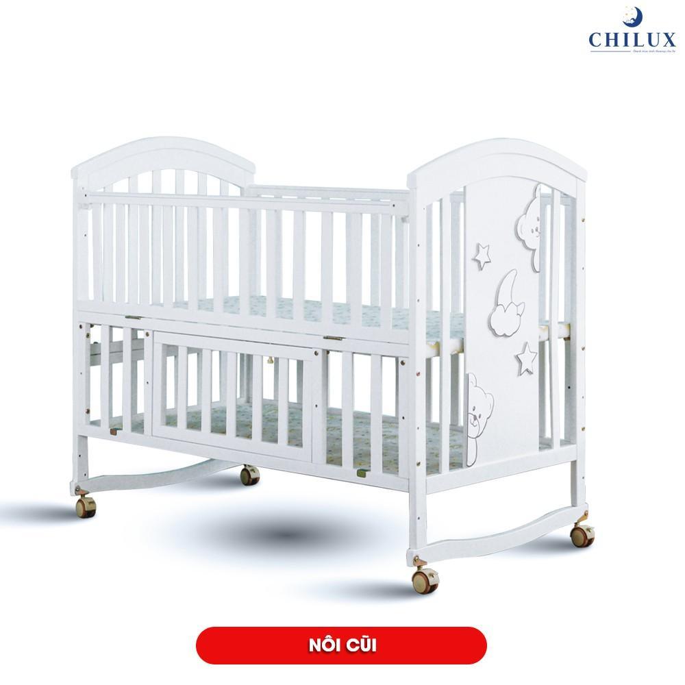 Nôi em bé đa năng sơn trắng CHILUX - 6 chế độ đa năng
