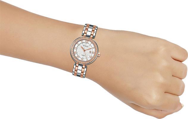 Đồng hồ Casio Nữ dây Kim loại kính Cứng SHE-4051SPG-7AUDF