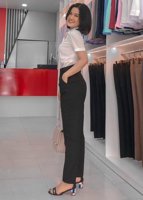 Quần tây nữ Thái Hòa lưng cao