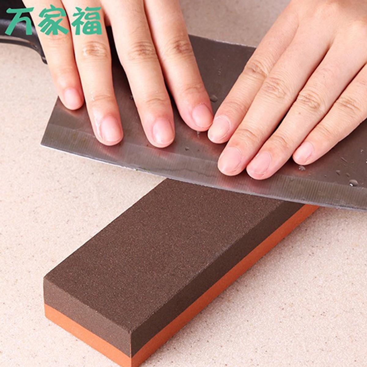 Đá mài dao kéo mài thô mài tinh NĐNB13058 + Tặng gói hồng trà sữa (Cafe) Maccaca siêu ngon