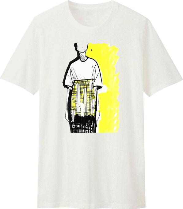 Áo T-Shirt Unisex Dotilo Sketched Girl - Hu089 - Size XXL