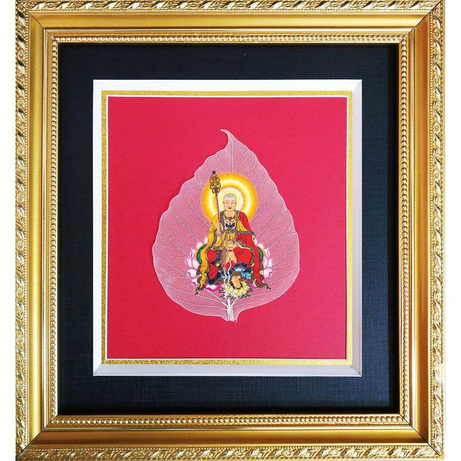 Tranh Lá Bồ Đề Hình Phật HPB-3060