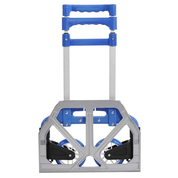 Xe kéo đẩy hàng cao cấp khung thép carbon bền nhẹ tải trọng 80kg - Xanh Dương