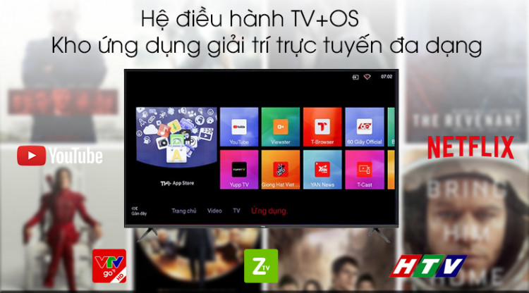 Hệ điều hành TV+ OS - Smart Tivi TCL 4K 43 inch L43P65-UF
