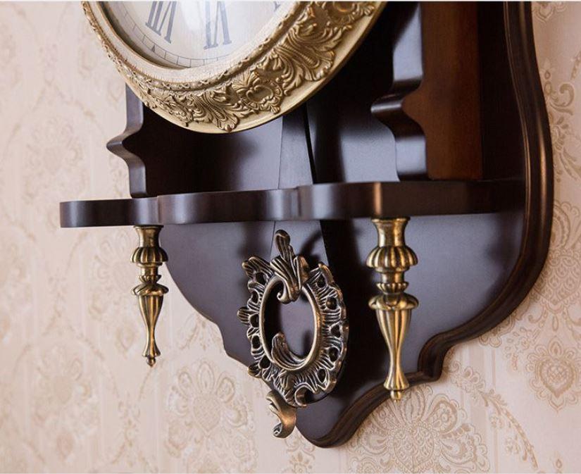 Đồng hồ treo tường quả lắc gỗ cao cấp DH68