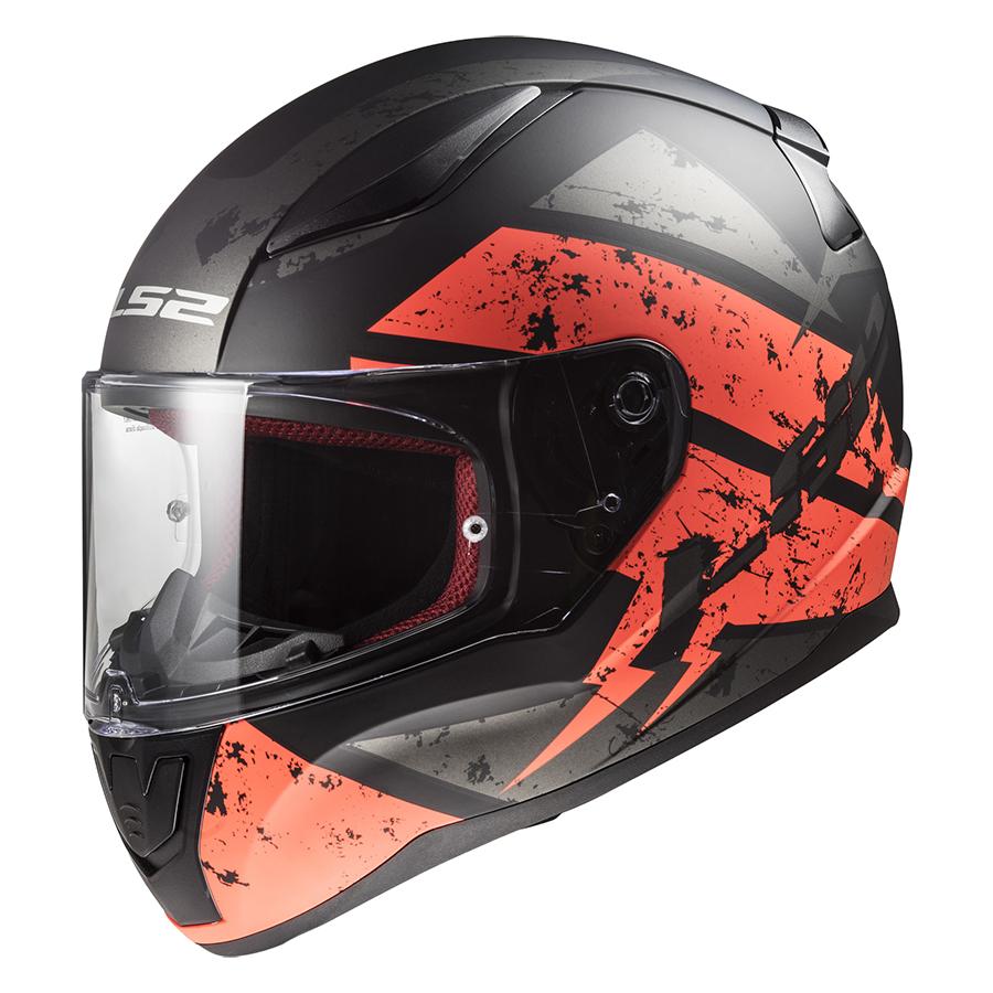 Mũ Bảo Hiểm FullFace LS2 FF353 Rapid Deadbolt Matt Black Orange