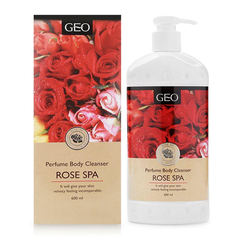 Sữa Tắm Trắng Da Hương Hoa Hồng Perfume Body Cleanser Rose Spa Geo (600ml)