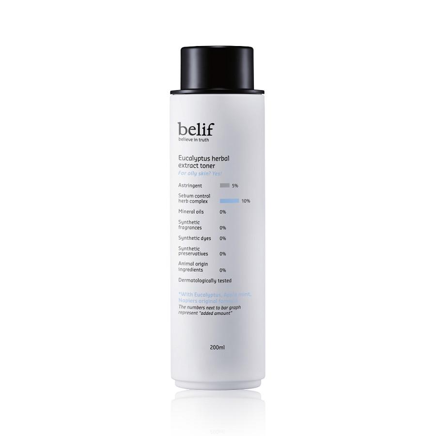 Nước hoa hồng khuynh diệp cho da dầu Belif Eucalyptus Herbal Extract Toner 200ml