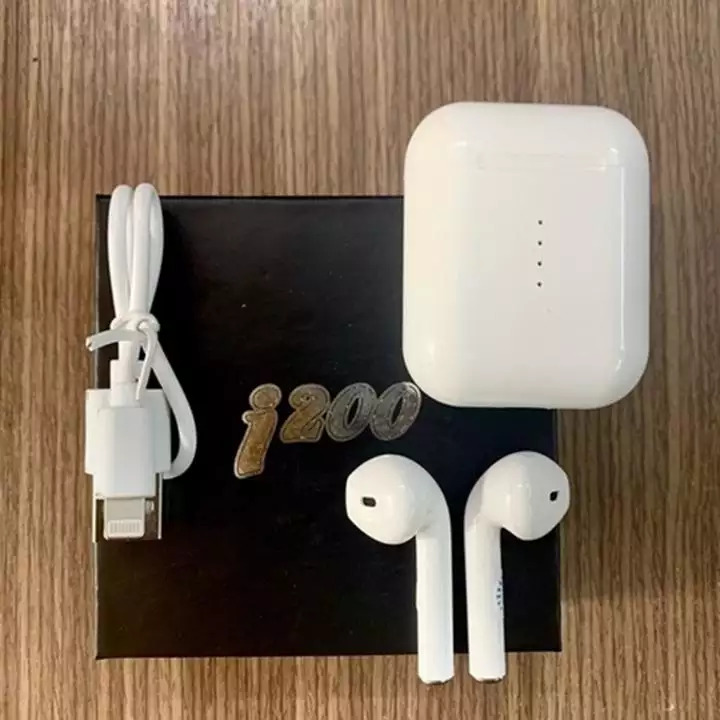 Tai nghe Bluetooth không dây i200 bản nâng cấp - cảm ứng true wireless hỗ trợ Sạc Không Dây (Tặng kèm dây đeo điện thoại cầm tay)