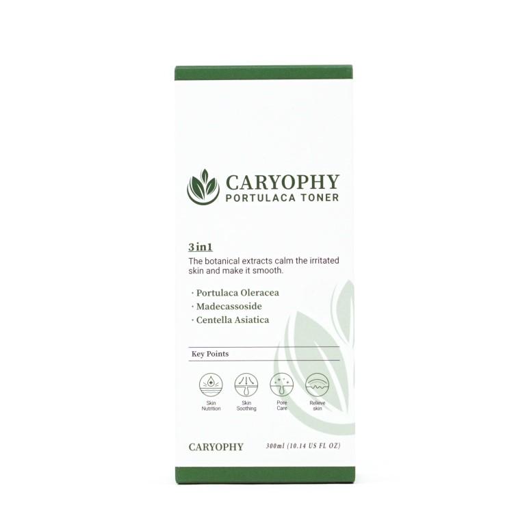 Nước hoa hồng dưỡng da giảm mụn Caryophy Portulaca Toner 300ml