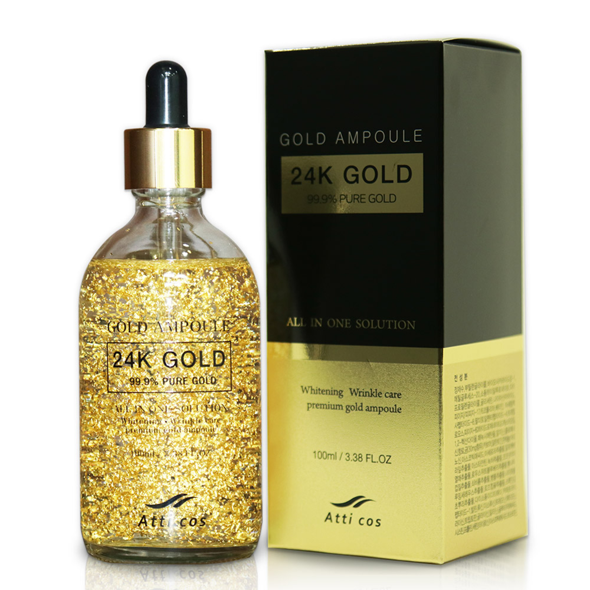 Serum dưỡng trắng Atticos 24K Gold Ampoule - 100ml