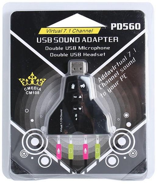 Card Âm Thanh Hình Máy Bay USB Sound Virtual 7.1