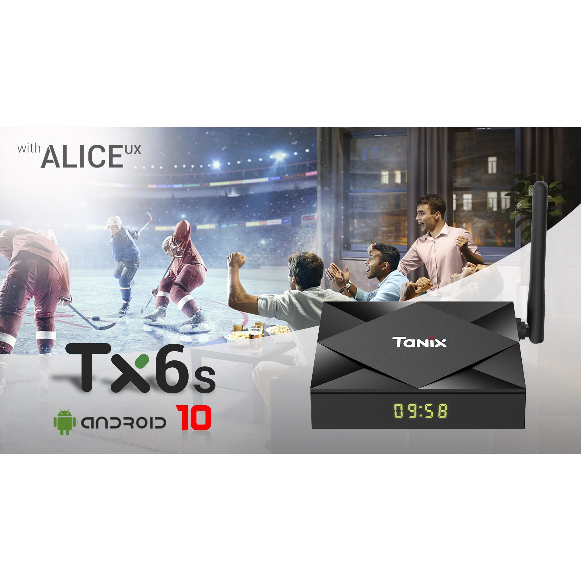 Đầu thu android TV Box Tanix TX6S ram 2G rom 8GB hàng chính hãng