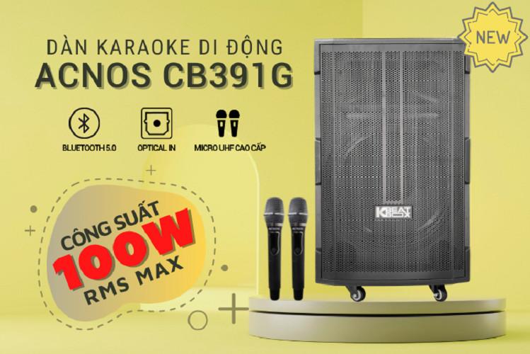 Dàn karaoke di động ACNOS CB391G - Hàng chính hãng