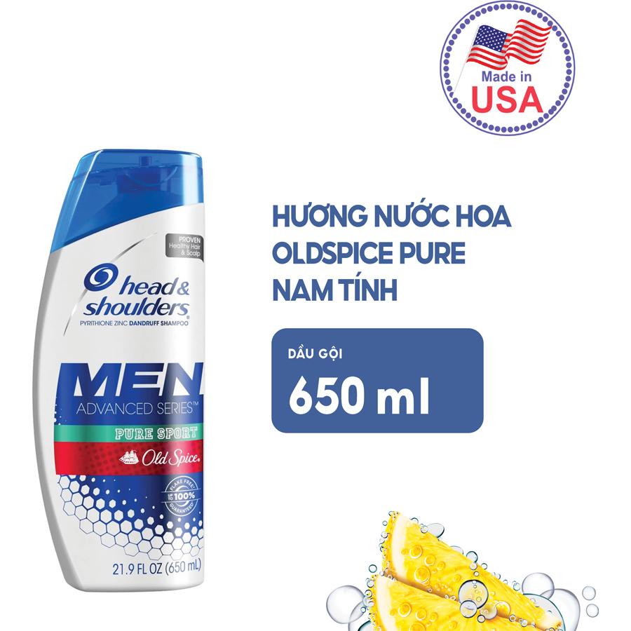 Dầu Gội Head & Shouder Oldspice Pure Sport 650ml (Nhập Khẩu Mỹ)