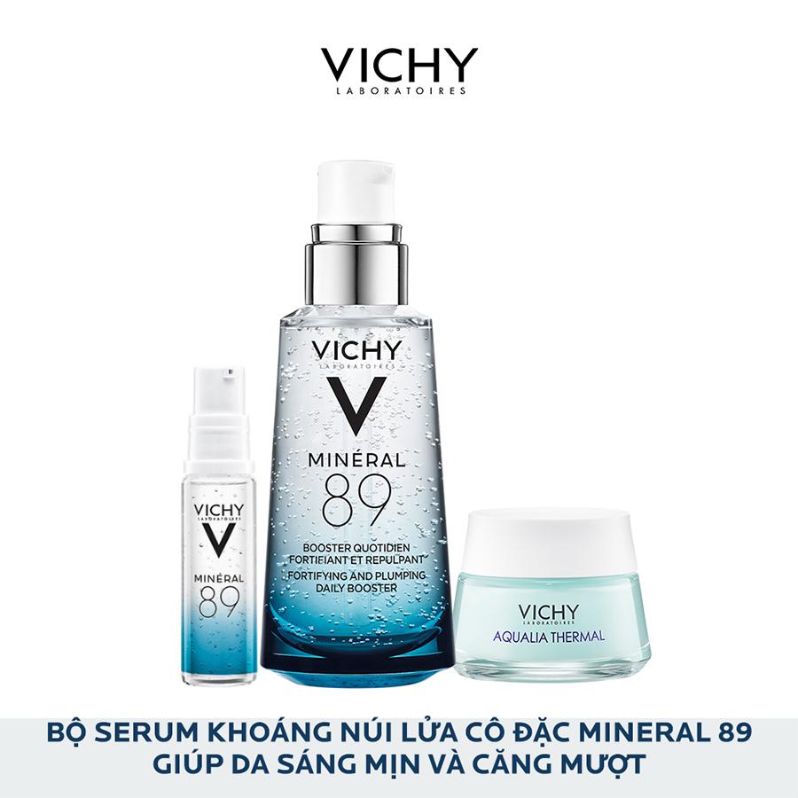 Hình ảnh Bộ sản phẩm Serum khoáng Phục hồi chuyên sâu với Mineral 89 50ml và Kem dưỡng Aqualia cho da ẩm mượt suốt 48H 15ml