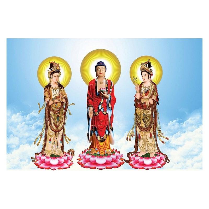 Tranh Phật Giáo Tam Thánh 409