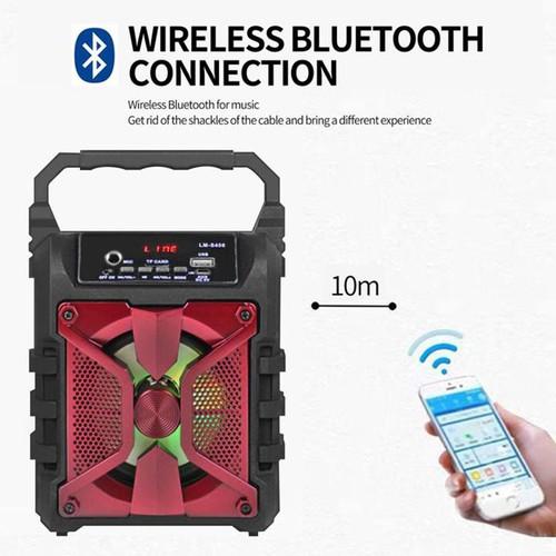 Loa Bluetooth KARAOKE Xách tay di động Cao cấp - Kèm Micro (giao màu ngẫu nhiên)