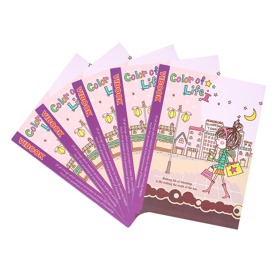 """Lốc 5 Quyển Tập Vibook """"Color Of Life"""" (200 Trang) - Mẫu Ngẫu Nhiên"""