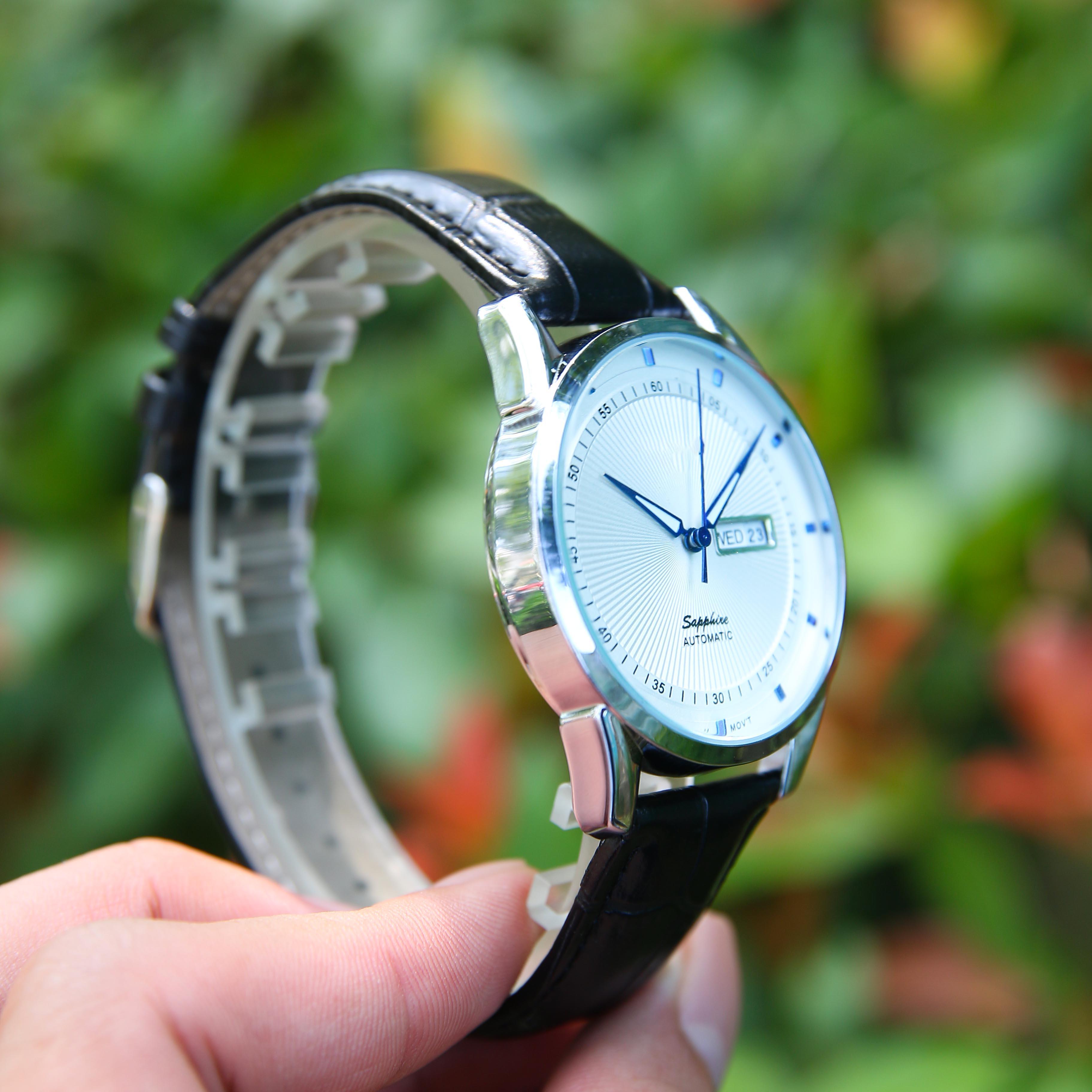 Đồng hồ nam dây da cao cấp SE0006888 - Thiết kế lịch sự, trẻ trung - Mặt kính cứng chống nước, chống xước hiệu quả