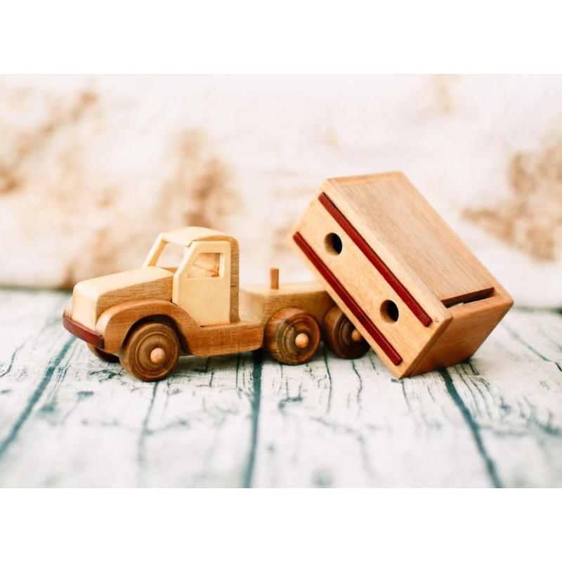 Mô hình Xe thùng gỗ đồ chơi