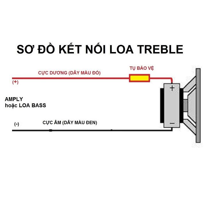 Bộ 2 Loa Treble Sankio JBM họng tròn, từ nam châm lớn 70mm - Hàn sẵn 2 tụ và 2m dây loa - Hàng chính hãng