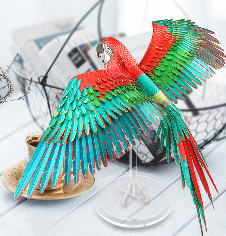 Mô hình thép 3D tự ráp Scarlet Macaw