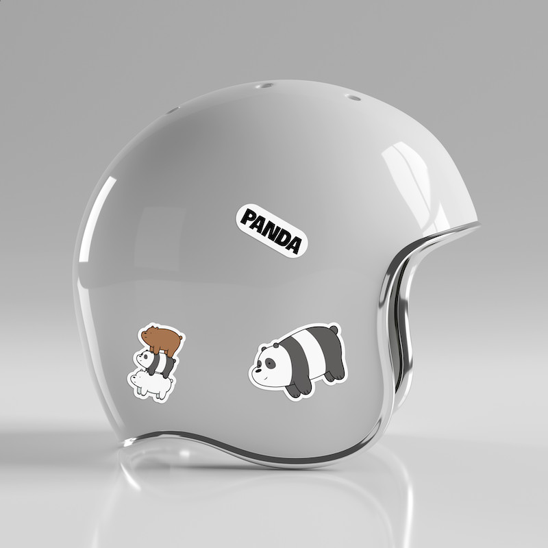 Gấu Trúc Panda - Single Sticker hình dán lẻ We Bare Bears