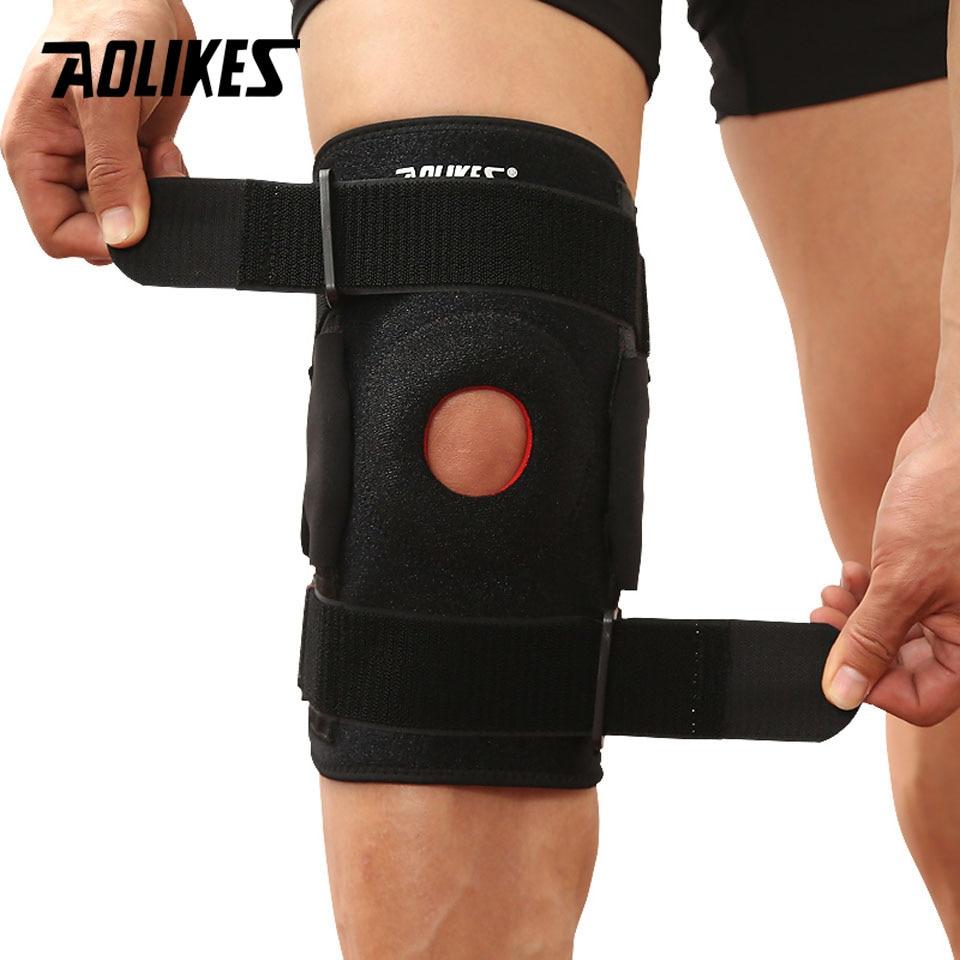 Bộ 2 Đai Bảo Vệ Khớp Đầu Gối Cao Cấp Có Thanh Hợp Kim Nhôm Trợ Lực Sport Knee Protector AOLIKES YE-7907 - Hàng Chính Hãng