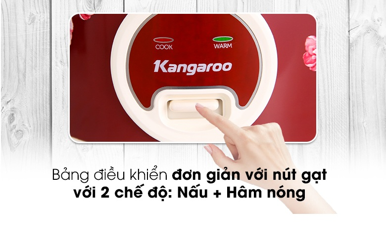 Nồi Cơm Điện Kangaroo KG378H (1.8 lít) - Hàng Chính Hãng