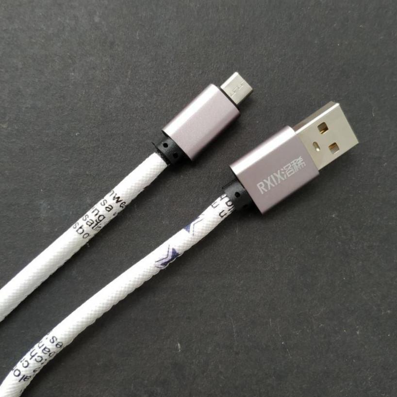 Cáp Sạc Bọc Vải 1M Micro USB - Hỗ Trợ Sạc Nhanh - Hàng Nhập Khẩu