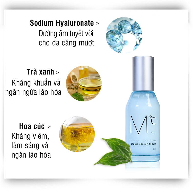 Serum dưỡng ẩm và kiểm soát tiết dầu dành cho nam MdoC Sebum Strike Serum 30ml JN-MSR02