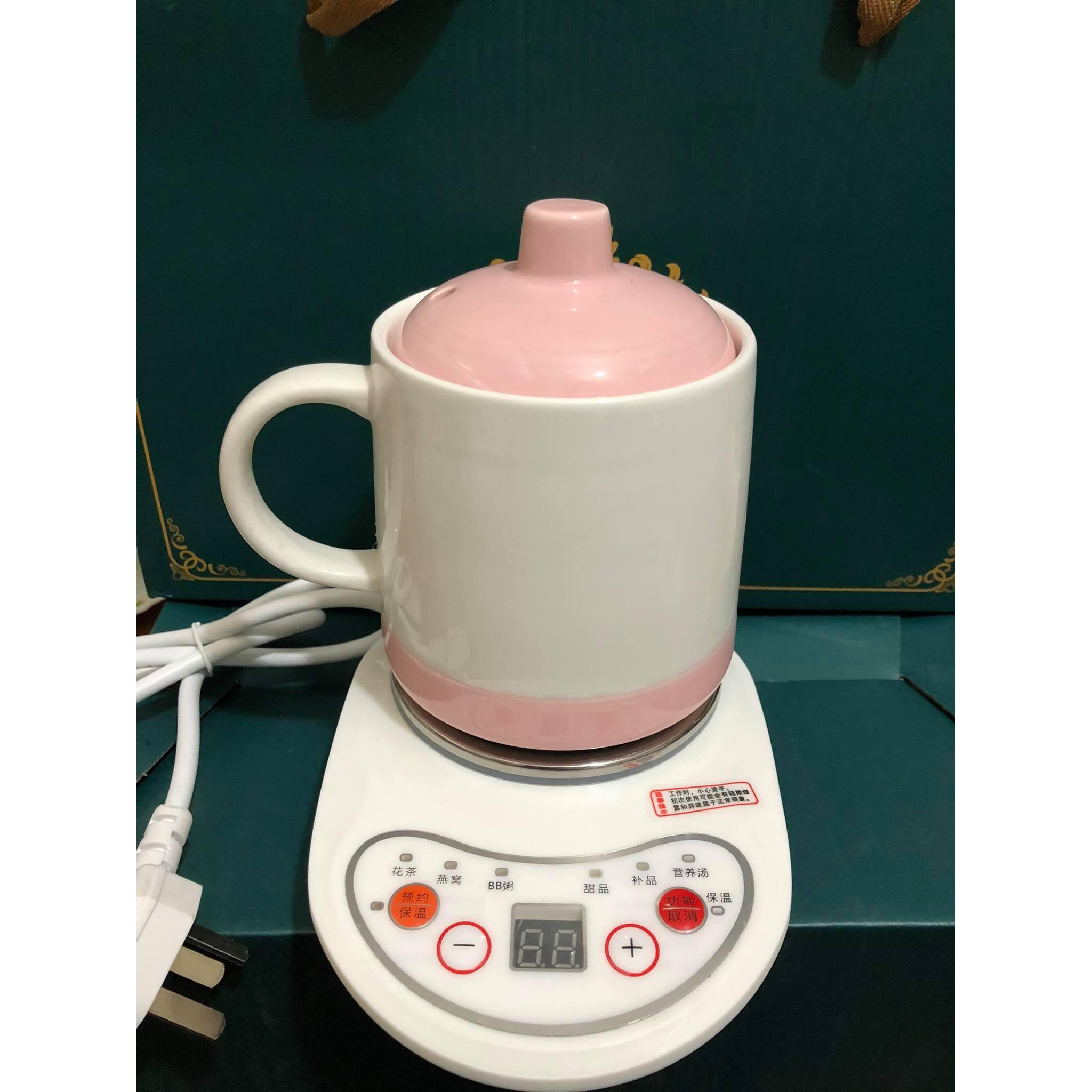 Bộ cốc sứ chưng yến – hầm đa năng và đế điện (chưng yến, hâm cháo, nấu nước, nấu trà...)