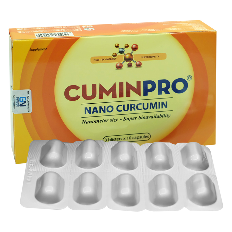 Thực Phẩm Chức Năng Viên Uống Nano Cumin Pro C004 (30 Viên)